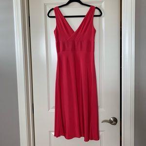"J.Crew ""Sophia"" silk tricotine dress in geranium"